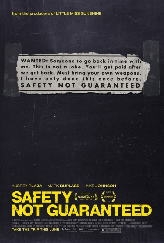 Safety Not Guaranteed - Movie Poster