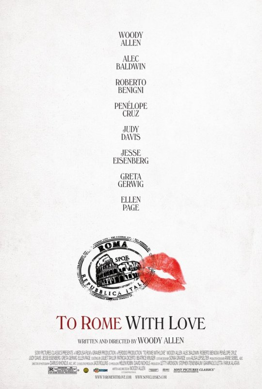 To Rome With Love - Movie Poster